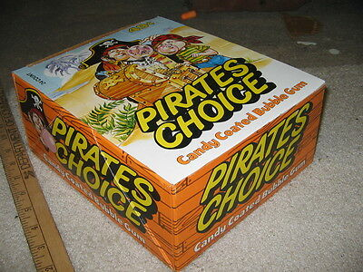 Pirate CHOICE 1970s DONRUSS treasure chest candy bubble gum display (24)