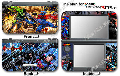 Batman V Superman Cartoon Skin Sticker Decal Cover #1 for NEW Nintendo 3DS XL