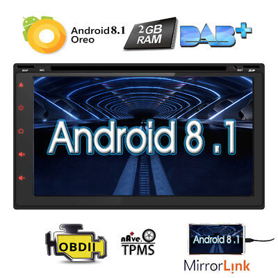 """7"""" 2DIN Android 8.1 Quad Core Car Stereo DVD Player GPS Navi OBD2 Radio 1080P US"""
