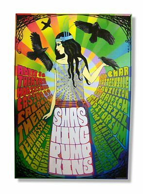 Smashing Pumpkins 2008 August Tour Psychedelic Girl Image Card Stock Poster New