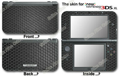 Metallic Honeycomb Pattern Cool Skin Sticker Decal Cover for NEW Nintendo 3DS XL