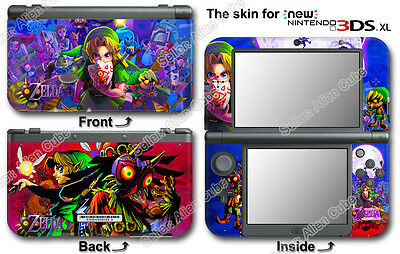 Legend of Zelda Majora's Mask SKIN STICKER COVER #1 for NEW Nintendo 3DS XL