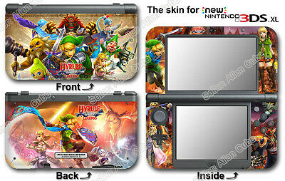 Legend of Zelda Hyrule Warriors Legends Cool Skin Sticker Cover for NEW 3DS XL
