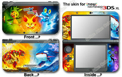 Pokemon X Y XY Popular New Skin Sticker Decal Cover #1 for NEW Nintendo 3DS XL