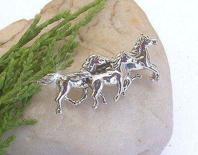 Horse  Western Jewellery Jewelry Gifts  Horses Brooch Pin  925 Sterling Silver