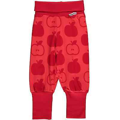 Red apple print organic cotton baggy trousers by Maxomorra