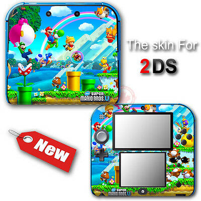 Super Mario Bros U Classic SKIN VINYL STICKER DECAL COVER #1 for Nintendo 2DS