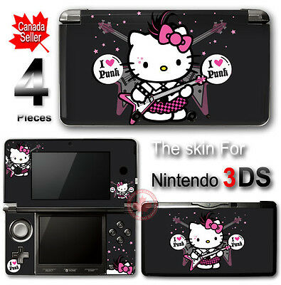 Hello Kitty Punk Cute SKIN VINYL STICKER DECAL COVER #4 for Nintendo 3DS