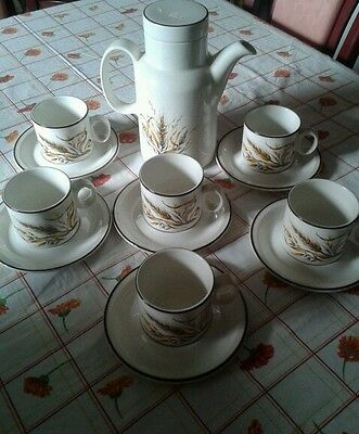 doverstone china earthenware coffee set