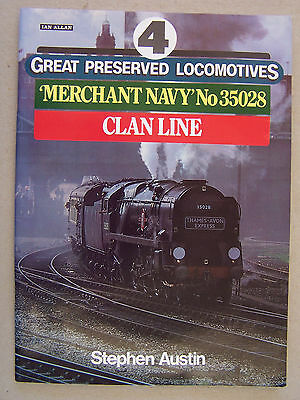 Great Preserved Locomotives 4.merchant Navy Class. Book.