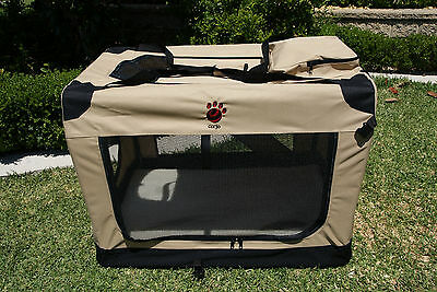 XS Pet Dog Soft Crate Portable Carrier Travel Cage Kennel Folding Sand