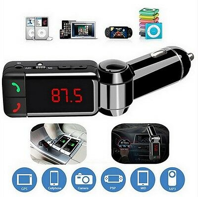 Wireless FM Transmitter MP3 Bluetooth Car Kit LCD USB Handsfree For Mobile Phone
