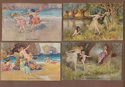 DANCING GIRLS: Collection of Scarce Antique FAULKNER Postcards (1920)