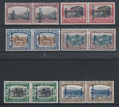 South West Africa 1927 Set Of Six Mm Sg 49/54 Cat £180