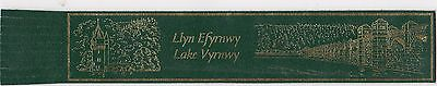 Leather Bookmark : Lake Vyrnwy, Wales.