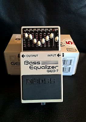 BOSS BASS EQUALIZER GEB-7 PERFECT AS NEW w/ BOX and DOCS