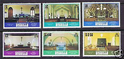 Anguilla 1979 Church Interiors SG 351/6 MNH