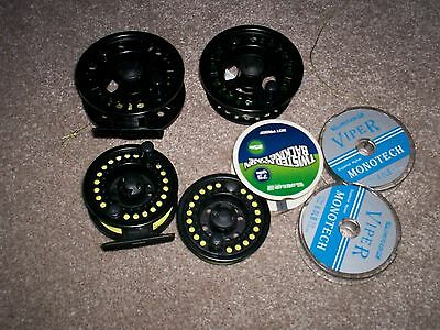 Fly Fishing Reels 2 with spare spools and line