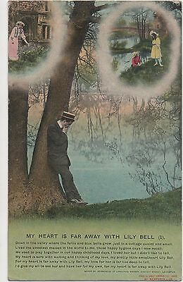 POSTCARD  SONG CARDS BAMFORTH  My heart is far away with Lily Bell (1)