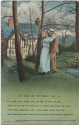 POSTCARD  SONG CARDS BAMFORTH  You wish me to forget you (2)