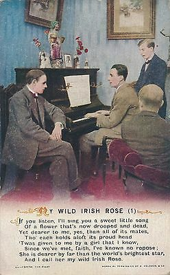 POSTCARD  BAMFORTH  SONG CARDS  My Wild Irish Rose  (1)