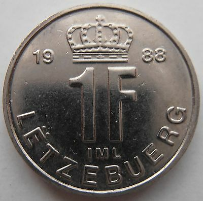 Luxembourg 1 Franc 1988