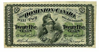 Canada ... P-8a ... 25 Cents ... 1870 ... *F++*