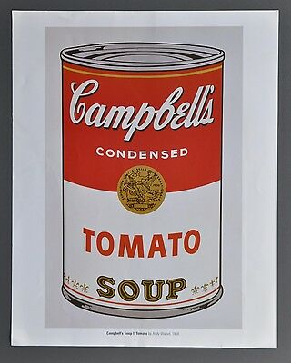 Andy Warhol Warhol Campell's Soup I Tomato 1968 Offset Color Lithograph 34x43cm