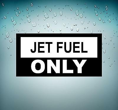 "#3927 6/"" Jet Fuel Only Aircraft Safety Decal Sticker LAMINATED GLOSS"