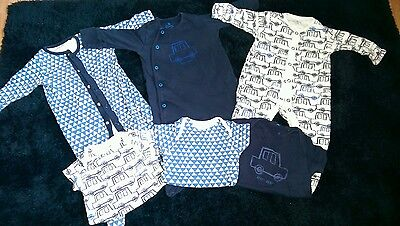 Next Baby Boys X 3 Sleepsuits, 3-6 Months and 3 X Vests
