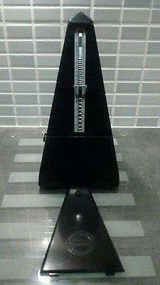 Vintage Swiss JACCARD Metronome 1940's Black Polished Bakerlite Perfect Order