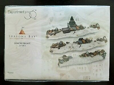 Beach Front Accessory Seasons Bay 3 pc Set 53355 Dept Department 56 Retired New