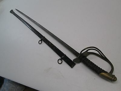 Us Officers Model 1872 Cavalry Sword With Scabbard