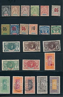 Dahomey (1899- 39) **37 DIFFERENT** INCLUDES EARLY NAVIGATION & COMMERCE; CV $72