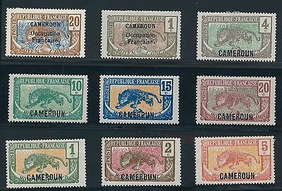 1916 - 1921 Cameroun ISSUES AS LISTED, CAT VALUE $18