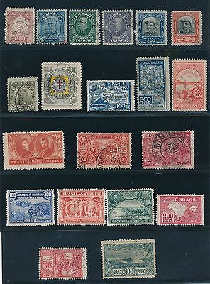 1908 - 1927 Brazil ISSUES AS SHOWN, CAT VALUE $50+