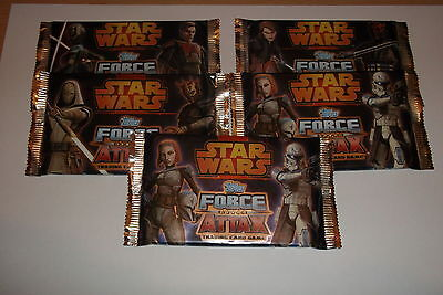 Star Wars Force Attax Series 4 Trading Cards 5 Packs SEALED/.