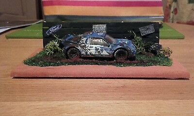 """A  Classic  """"ford   Rs 200  Rally Car """"barn Find Scene"""" Diorama"""