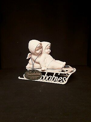 """snowbabies department 56. """"Two little babies on the go"""""""