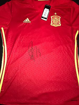 Juan Mata Signed Spain Home Shirt With Proof *manchester United* Large