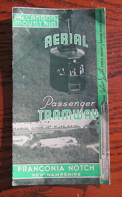 Vintage Cannon Mountain Aerial Tramway travel brochure Franconia Notch NH