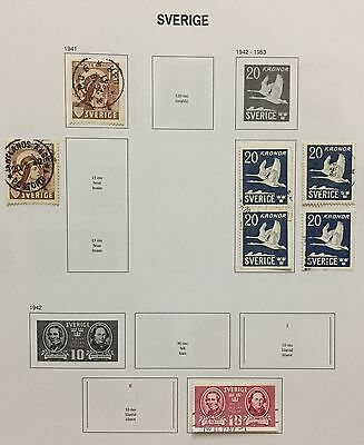 Sverige Sweden 1941/42 Lot Of 7 Perf & Imperf Used Look At The Picture