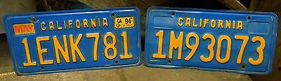 """Lot of 2 Vintage CALIFORNIA LICENSE PLATES 70's 80's 90""""s"""