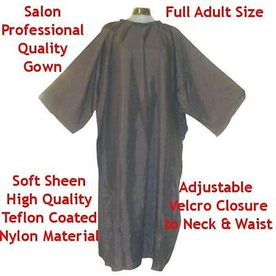 Black Nylon Salon Barber Hair Hairdressing Cutting Gown Cape with Arms Sleeves