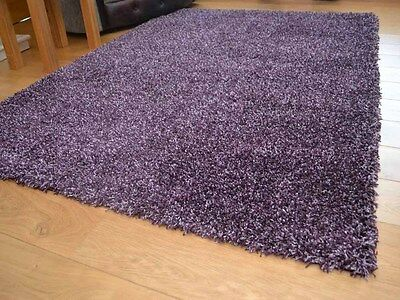 Dark Heather Small Extra Large 5cm Soft Thick Pile Plain Shaggy Long Runner Rug
