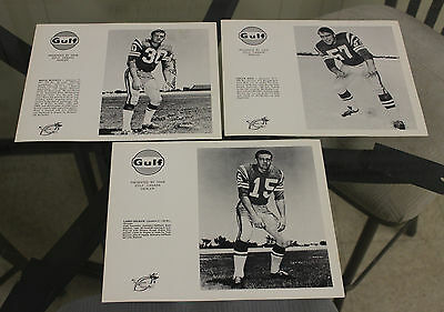 Lot of 20 Saskatchewan Roughriders Gulf Early 1970s Player Pictures
