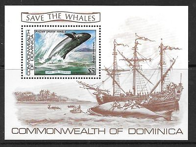 Dominica Sgms843 1983 Save The Whales   Mnh
