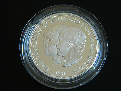 1981 Silver Proof Crown Coin - Charles & Diana Wedding Commemorative