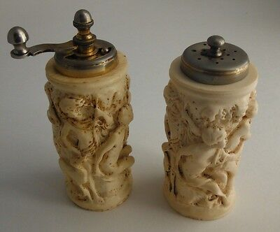 Hand Made Beer Bottle Salt And Pepper Shakers Very