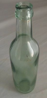 Vintage 9 1/4 Inch Tall Pale Green Unmarked Bottle
